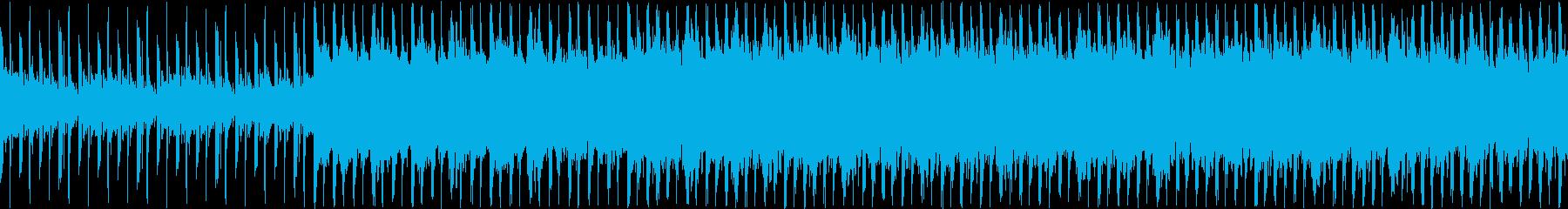バイオリンとピアノのノリの良いループ曲の再生済みの波形