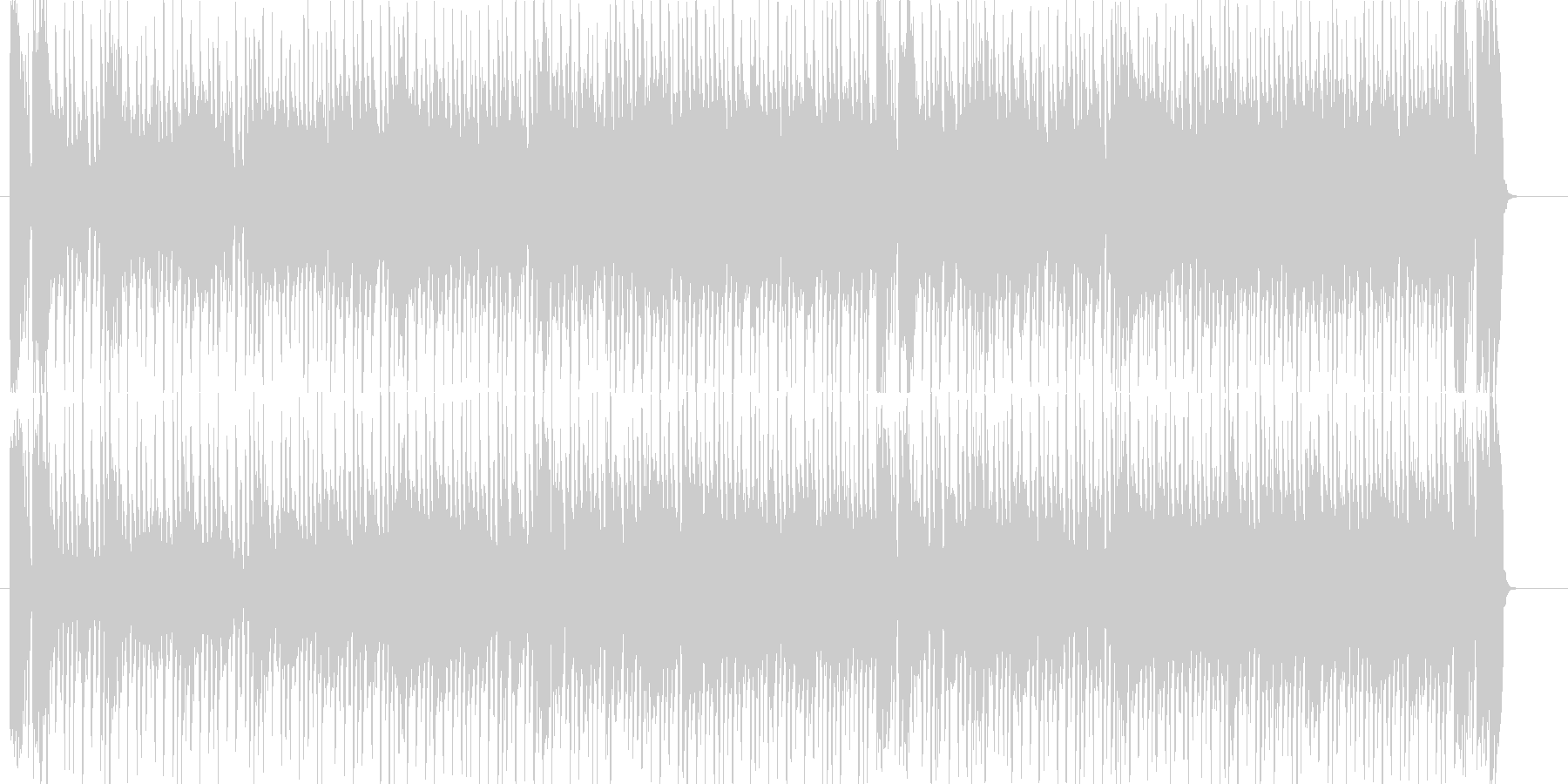 淡々とした雰囲気のファンクロックの未再生の波形