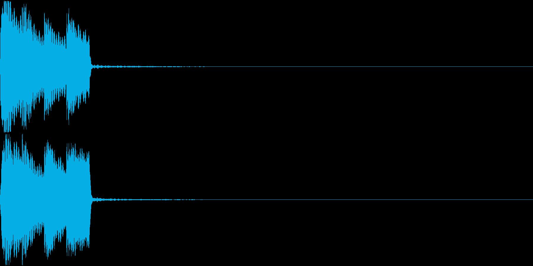 ピコピコ音 クリック 選択 決定 05の再生済みの波形