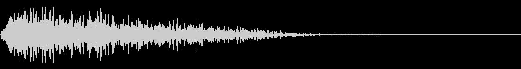 【ダーク・ホラー】重い衝撃音_ドーン・・の未再生の波形