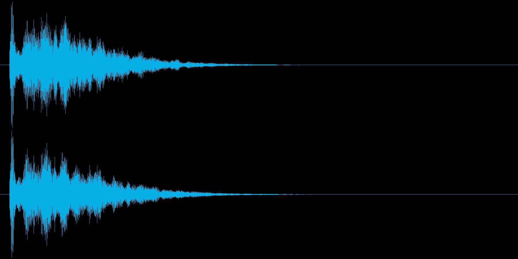 テュピーン・お知らせ・アナウンス・選択の再生済みの波形