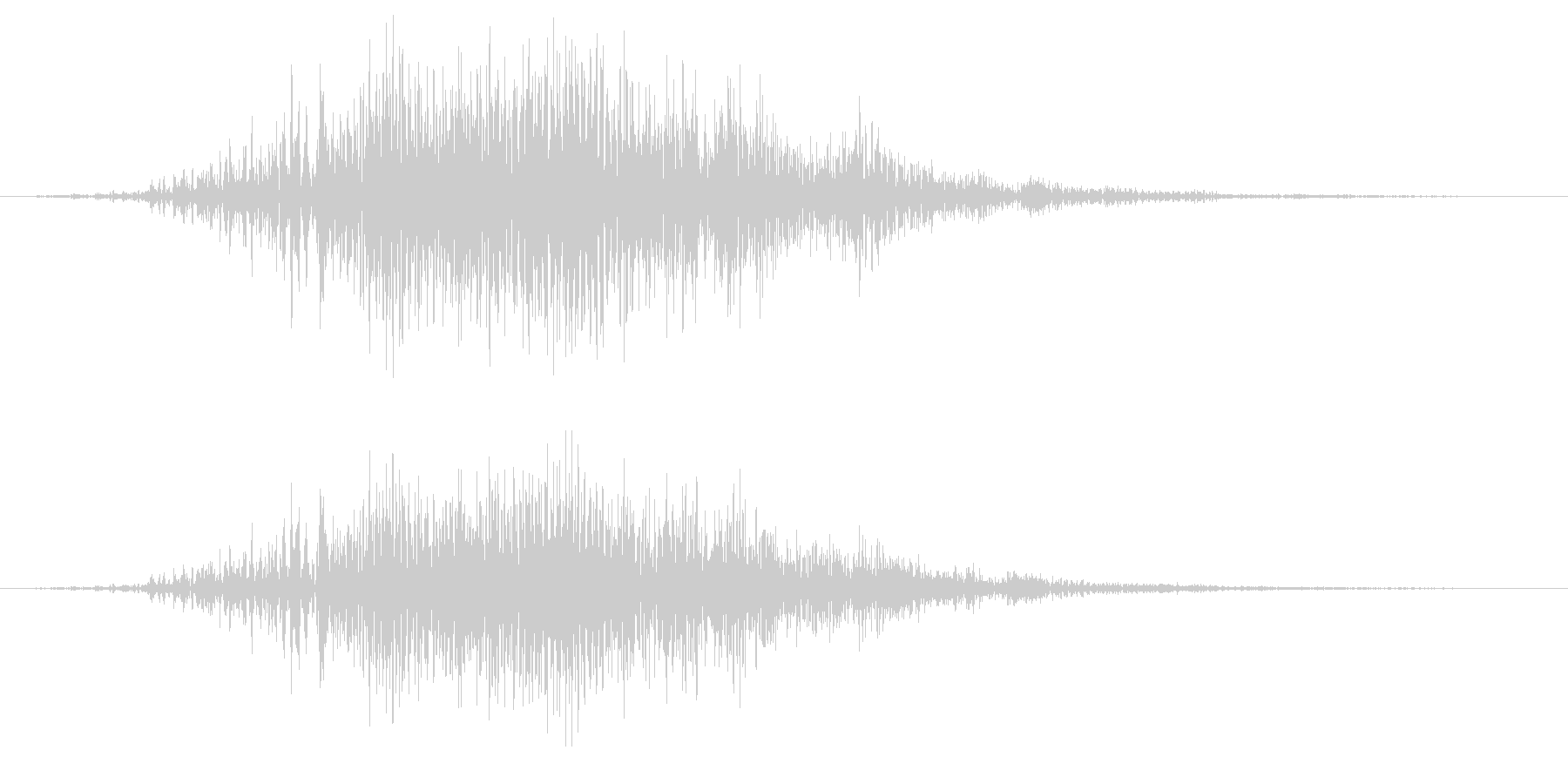 アオサギの鳴き声(飛翔中によく鳴く)の未再生の波形