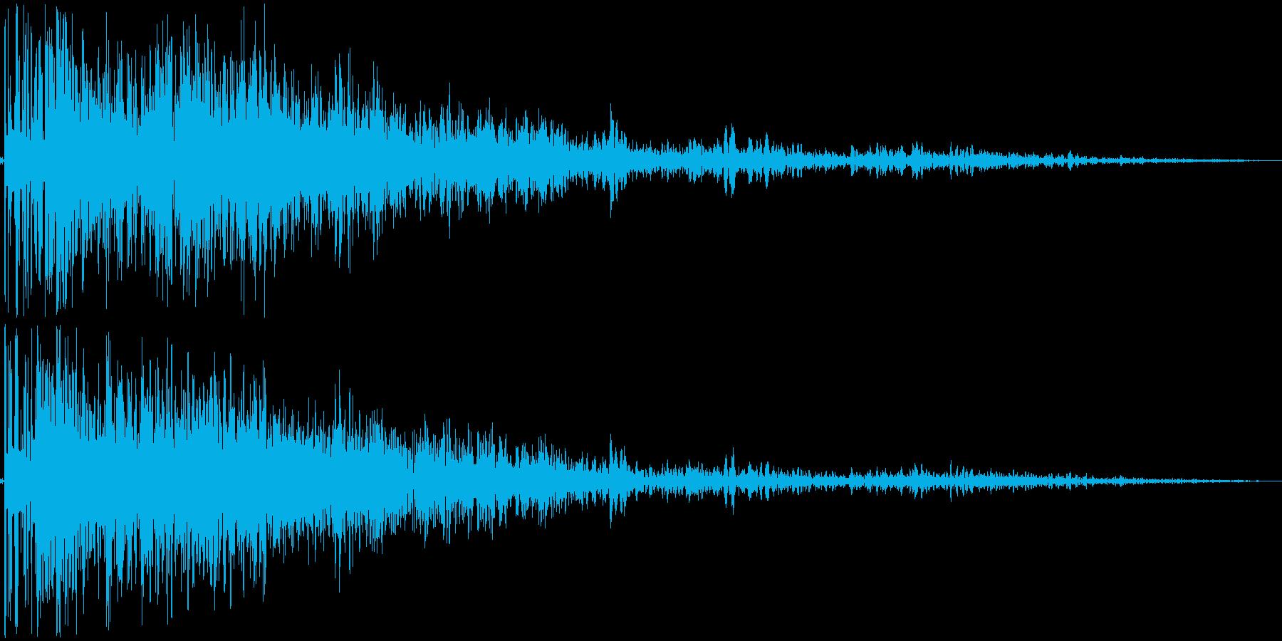 【本物】戦車砲(アタック音強め)の再生済みの波形