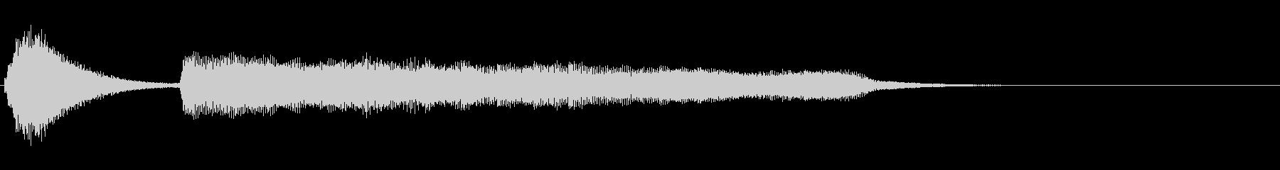 鉄琴〜弦〜ピアノ 落ち着いたサウンドロゴの未再生の波形