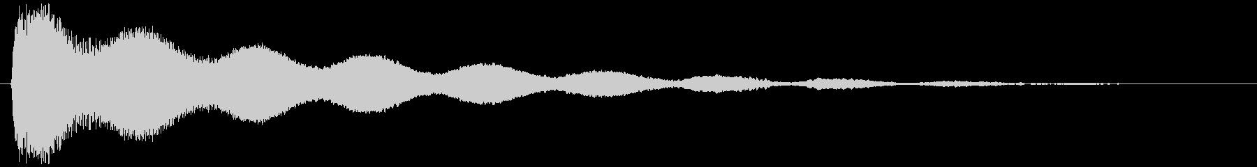 除夜の鐘 やや遠め(コォォォン…)の未再生の波形