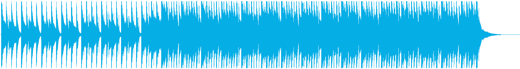 PopなBGMの再生済みの波形