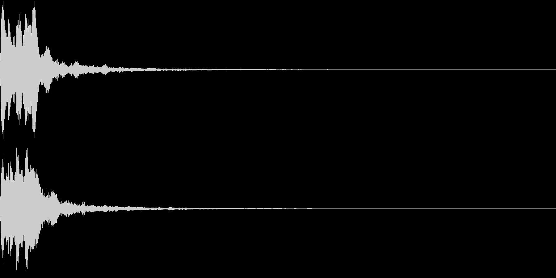 キラキラ ベル アナウンス 情報 08の未再生の波形