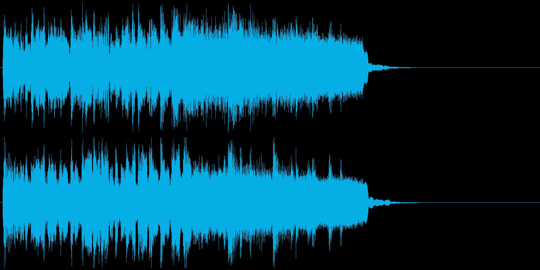 不思議なシンキングタイム系のジングルの再生済みの波形