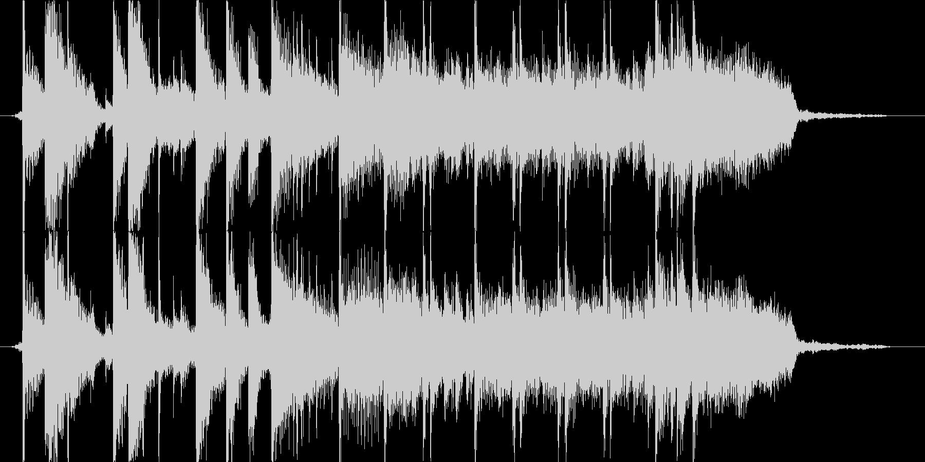 ワイルドなブラスロックのジングルの未再生の波形