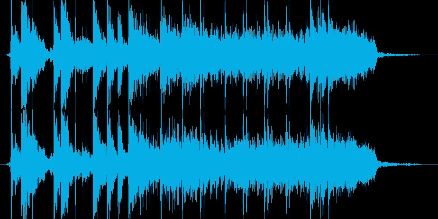 ワイルドなブラスロックのジングルの再生済みの波形