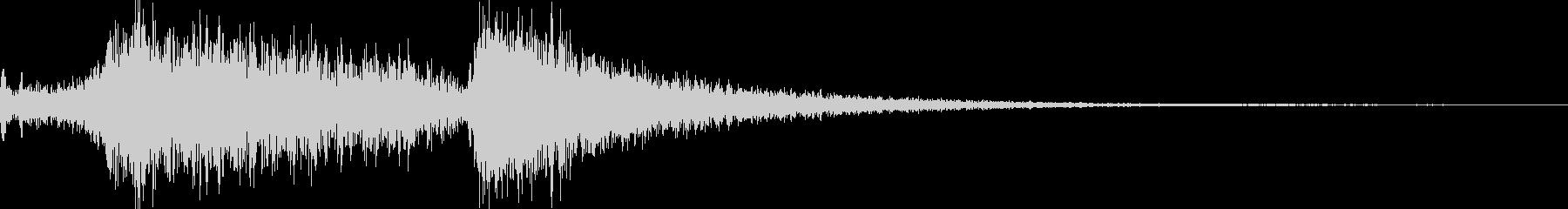 アーケードロゴウーシュの未再生の波形