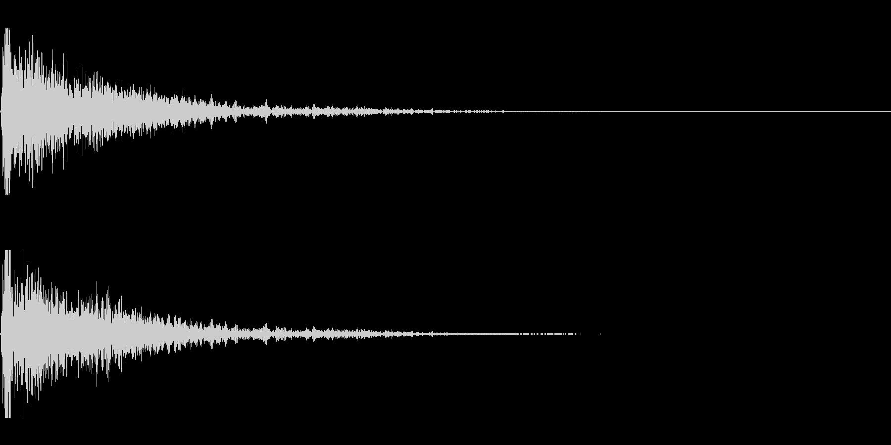 爆発;デブリなし24の未再生の波形