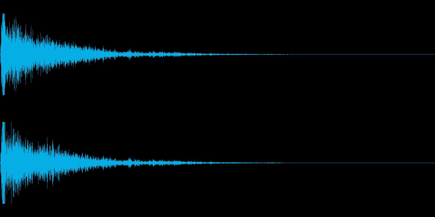 爆発;デブリなし24の再生済みの波形