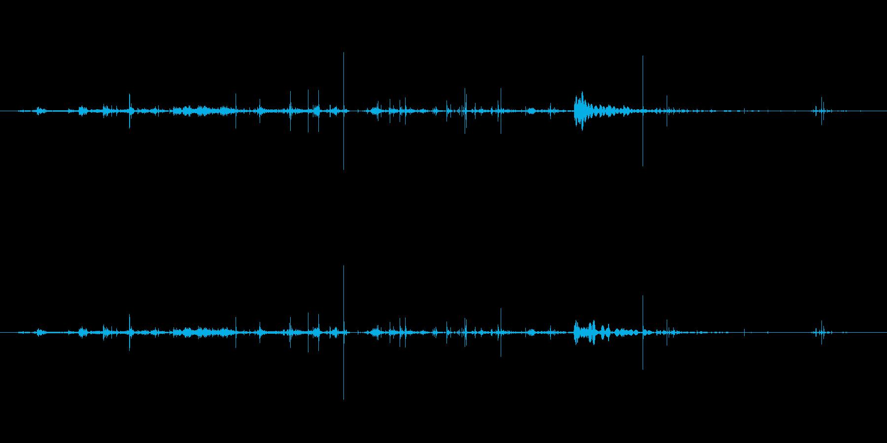 紙 メモ帳シートくしゃくしゃ02の再生済みの波形