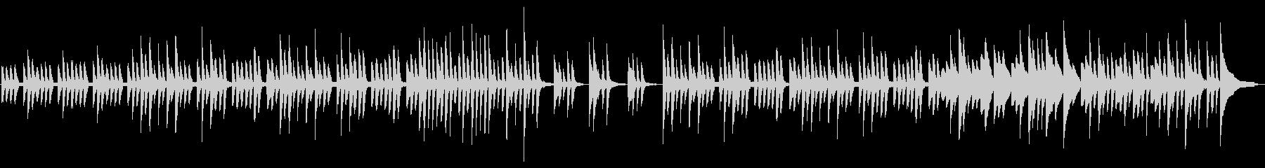 可愛らしい日常系ピアノの未再生の波形