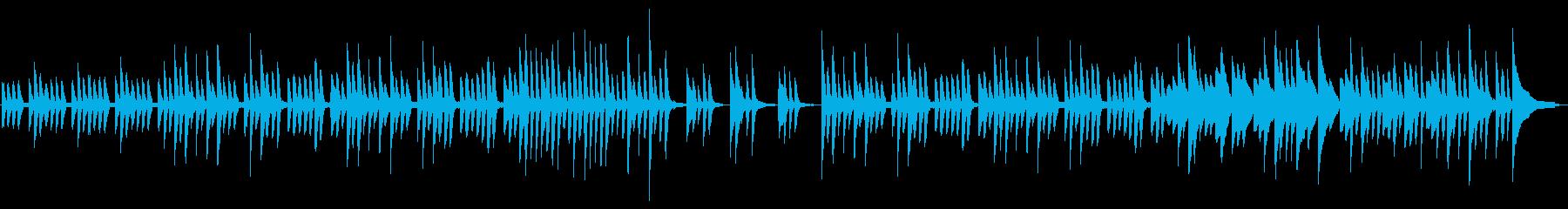 可愛らしい日常系ピアノの再生済みの波形