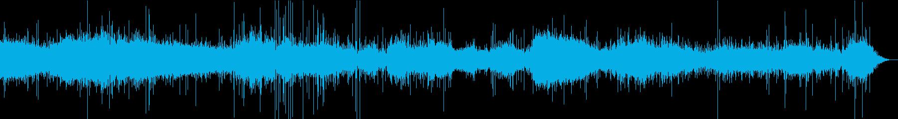 【生録音】キッチン環境音 揚げ焼き 1の再生済みの波形