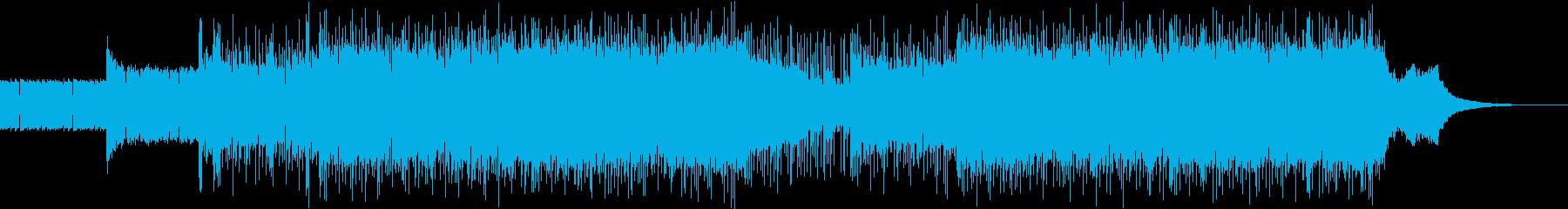 激しいツインバスのヘビーメタル唸るギターの再生済みの波形