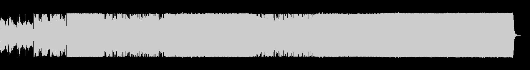 最後に盛り上がりのあるポストロックの未再生の波形
