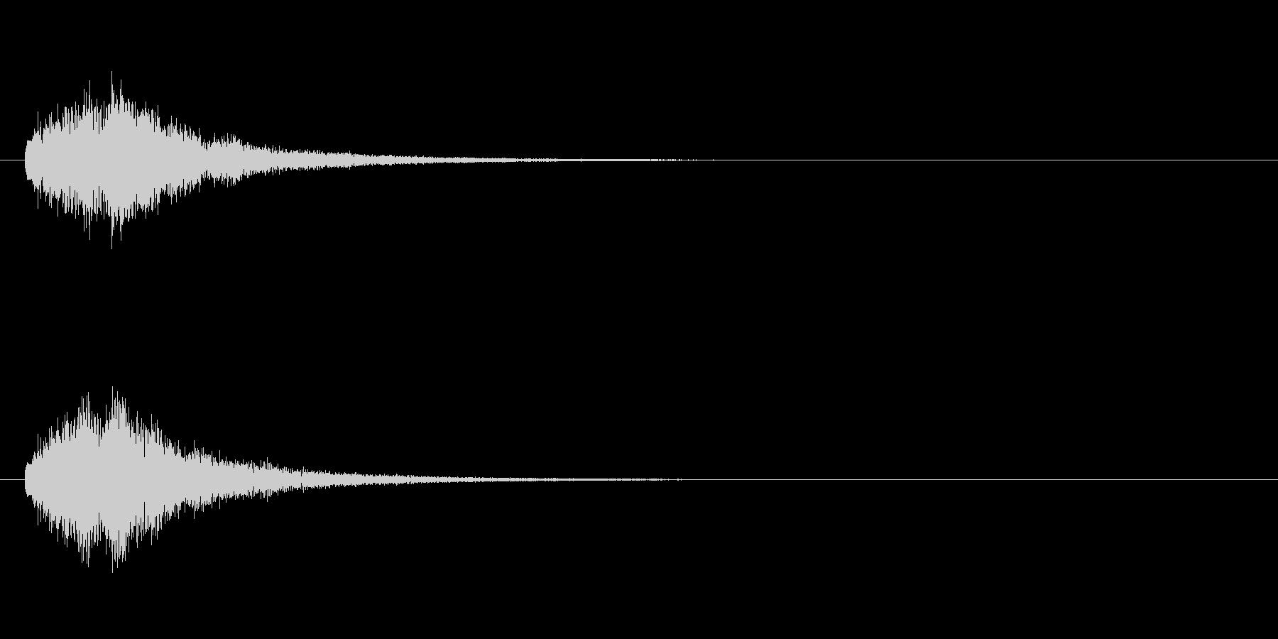 テロップの音・決定音・タラタラタラーンの未再生の波形