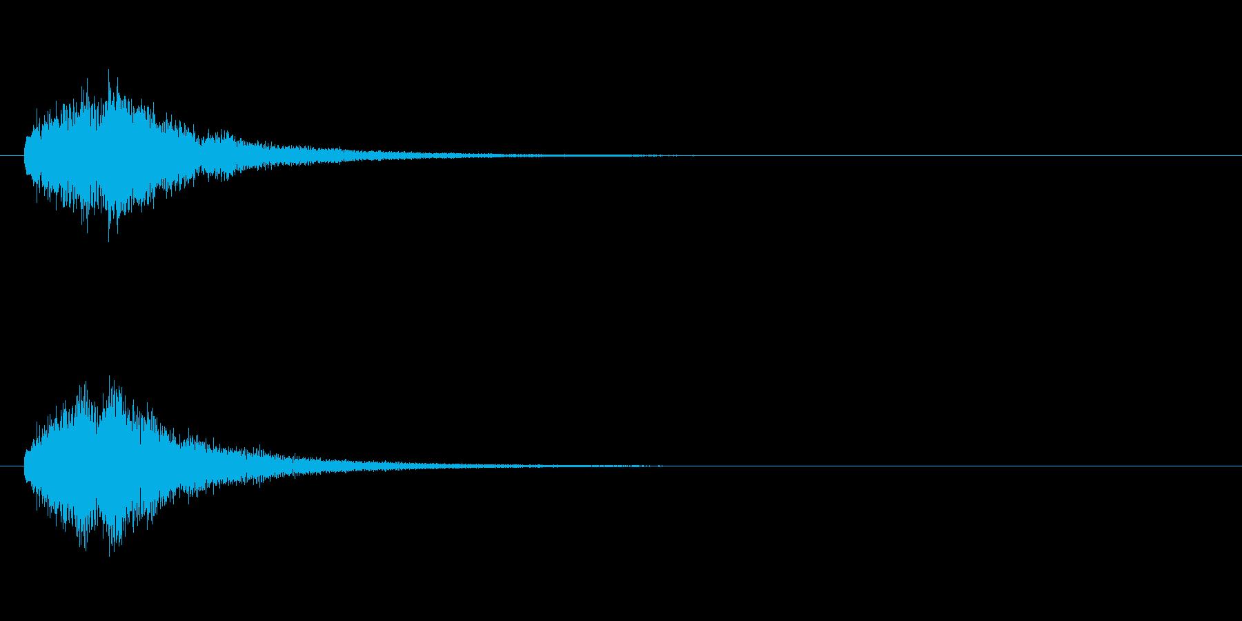 テロップの音・決定音・タラタラタラーンの再生済みの波形