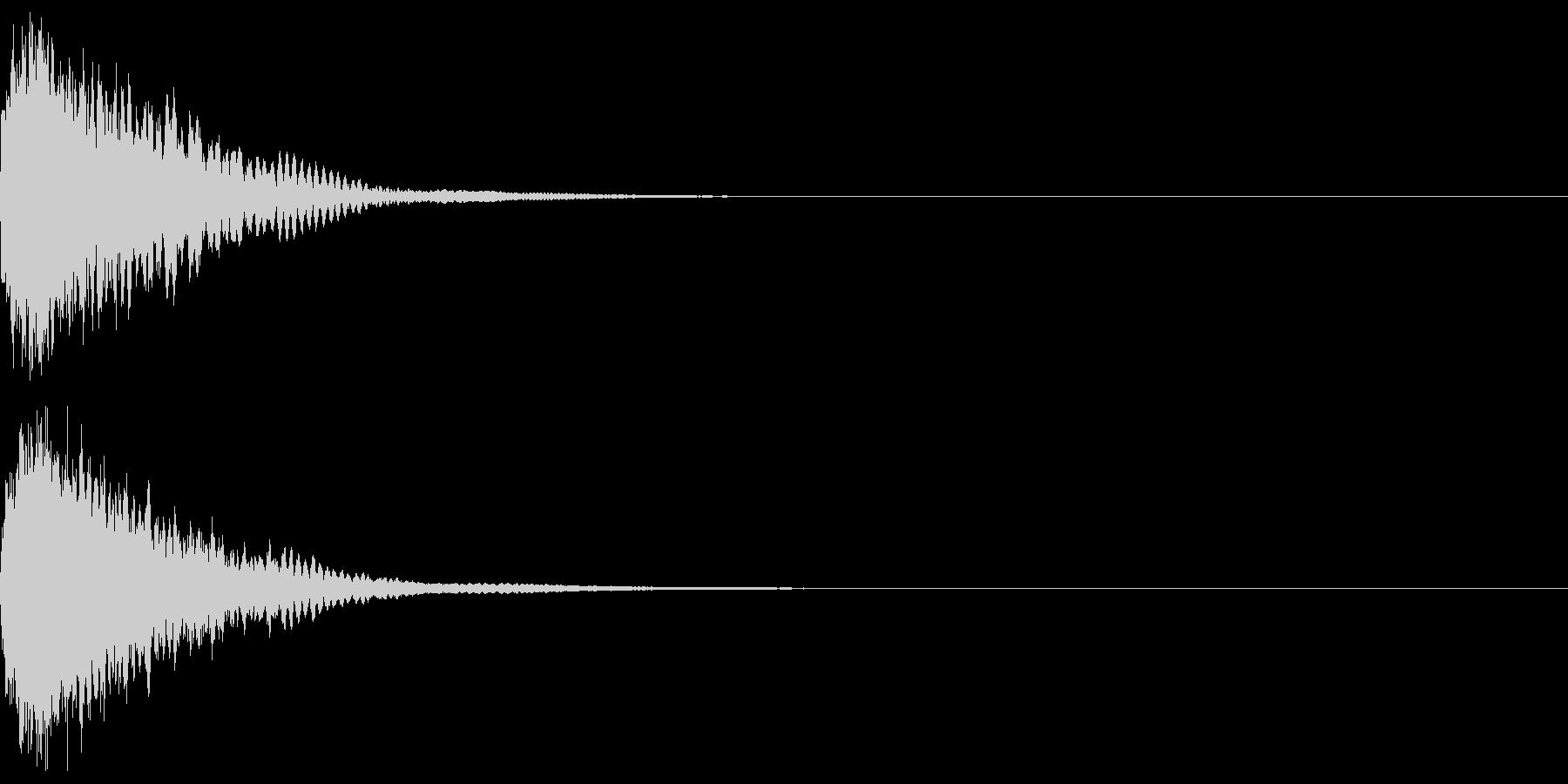 刀 一撃 キュイーン キーン 斬撃 15の未再生の波形