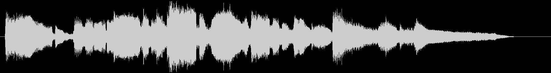 ソフトなサックスの15秒CM用バラード曲の未再生の波形