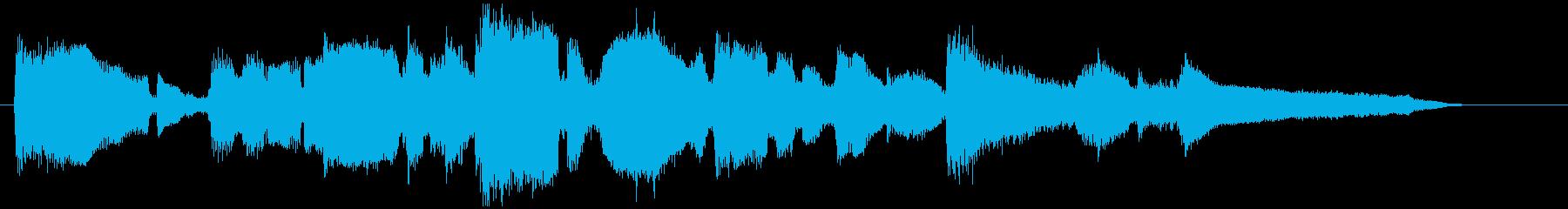 ソフトなサックスの15秒CM用バラード曲の再生済みの波形