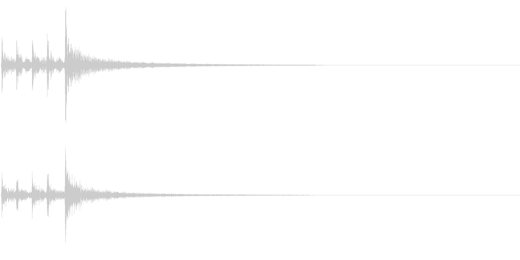 ティンパニ、(手)、ファイナルヒッ...の未再生の波形