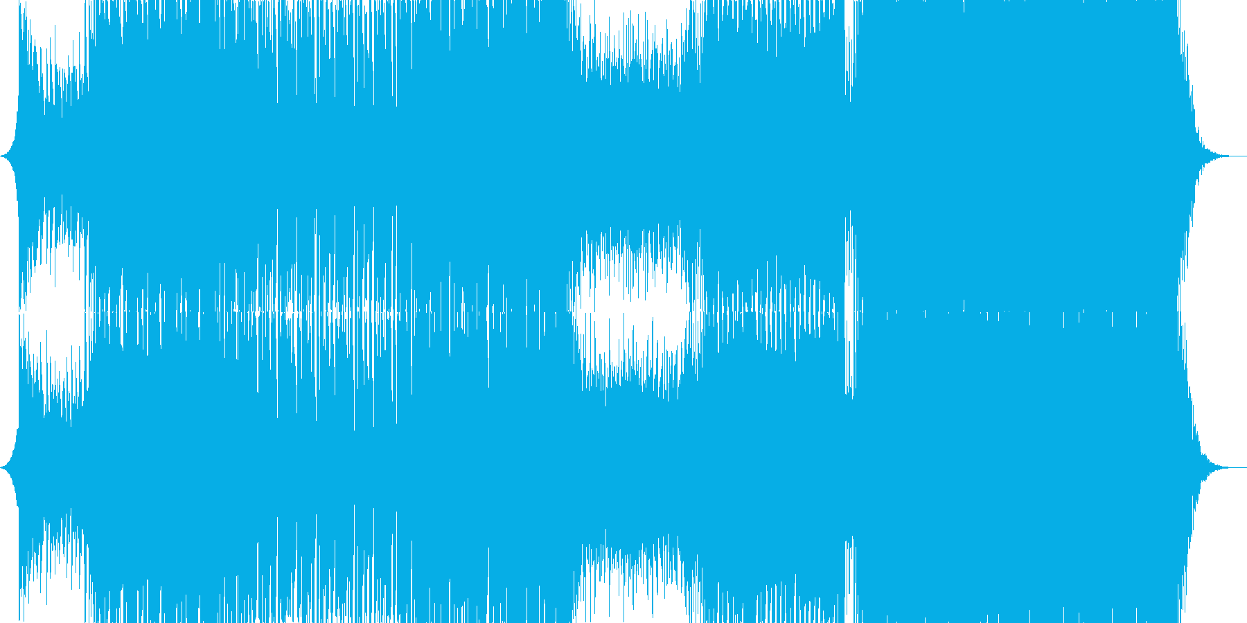 アガる王道EDM/House/Pianoの再生済みの波形