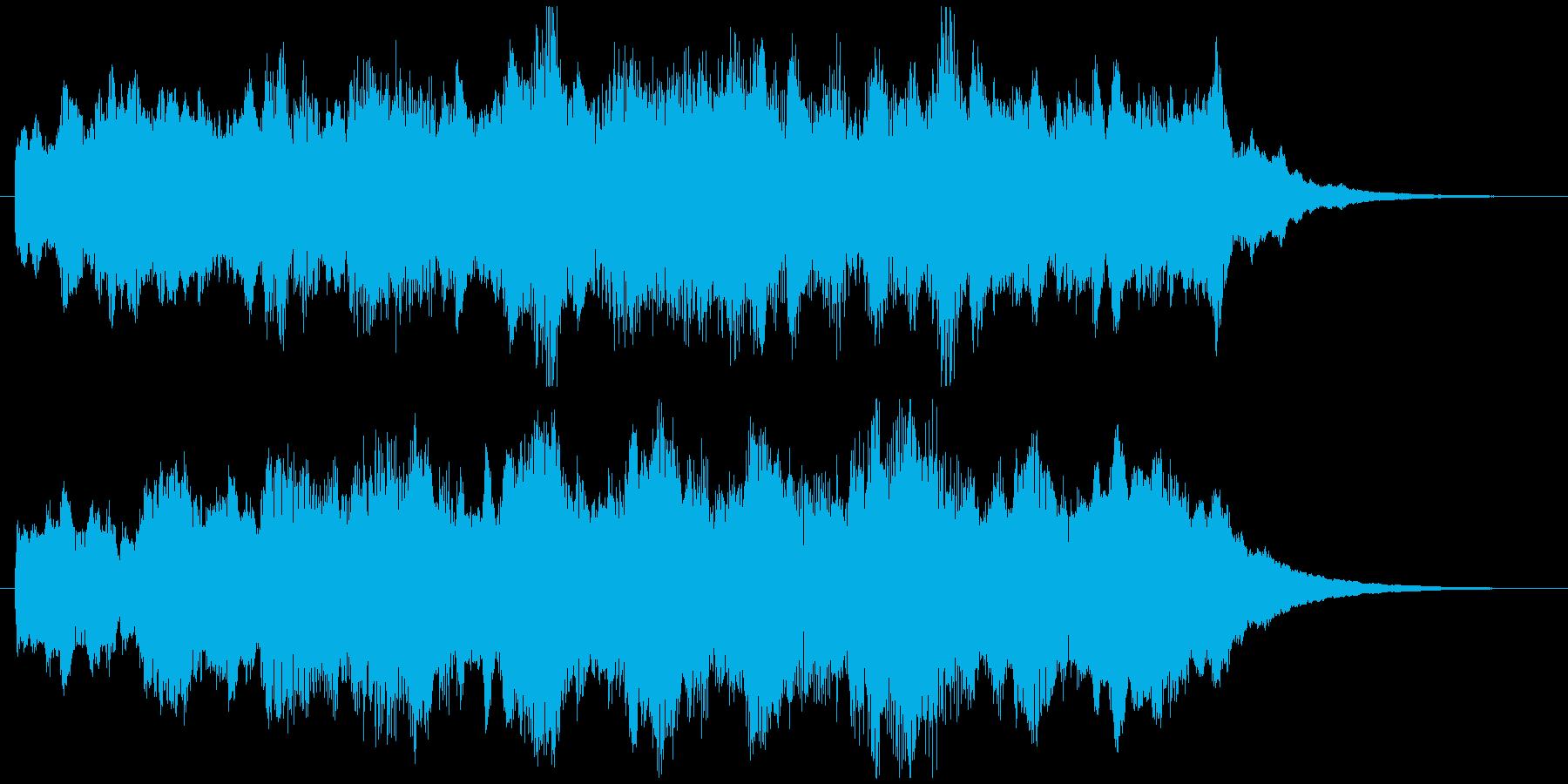 緩やかで幻想的なスピリチュアルジングルの再生済みの波形