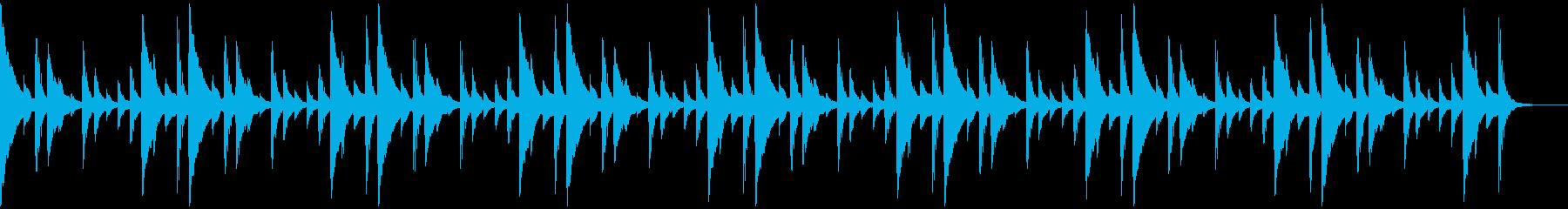 サンバのリズムパターンの再生済みの波形