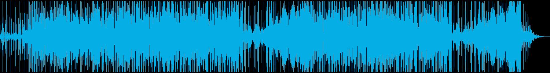 レゲエ、ダブ系インストBGMの再生済みの波形
