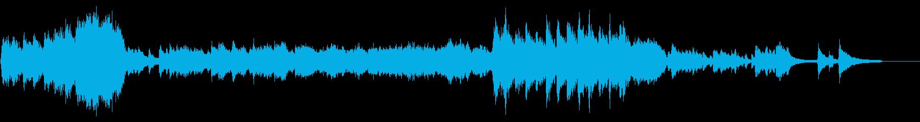 壮大に始まるオープニング風オーケストラの再生済みの波形