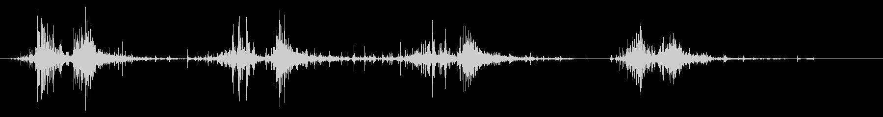 タブレッド菓子出す音・振る音21の未再生の波形