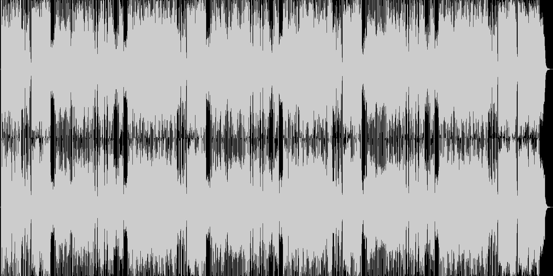ほのぼの軽快な演歌風の楽曲の未再生の波形