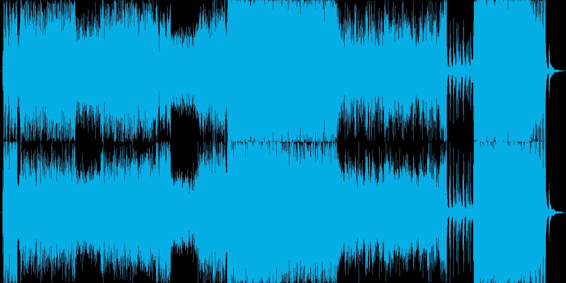リズミカルでドラマティックな和風テクノの再生済みの波形