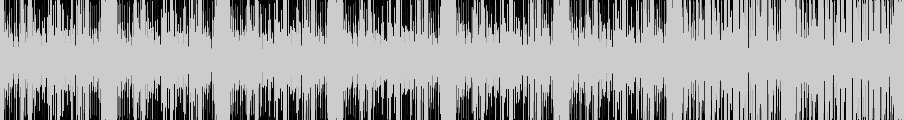【ループ】緊迫感のあるベースサウンドの未再生の波形