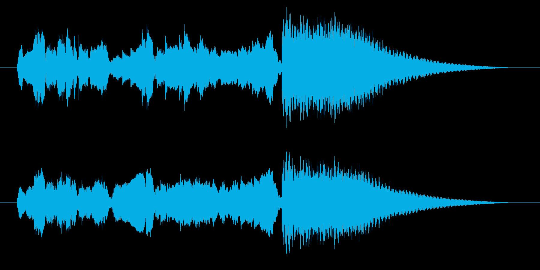 中国風アイキャッチ☆ジングル1の再生済みの波形