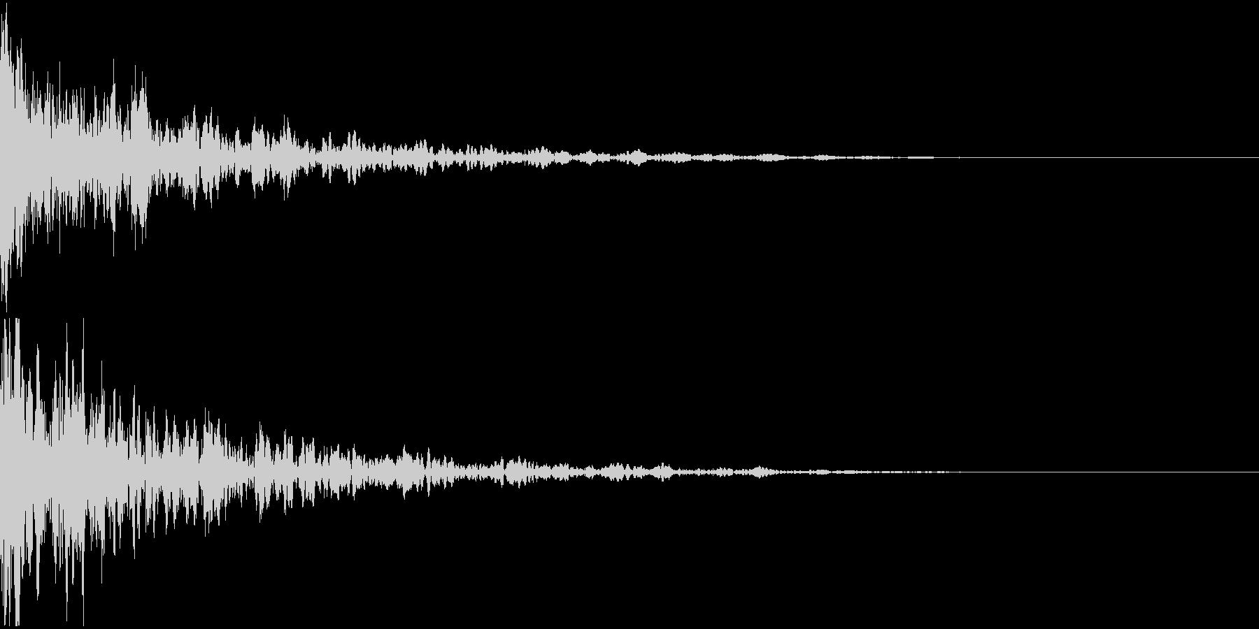 ドーン-07−2(インパクト音)の未再生の波形