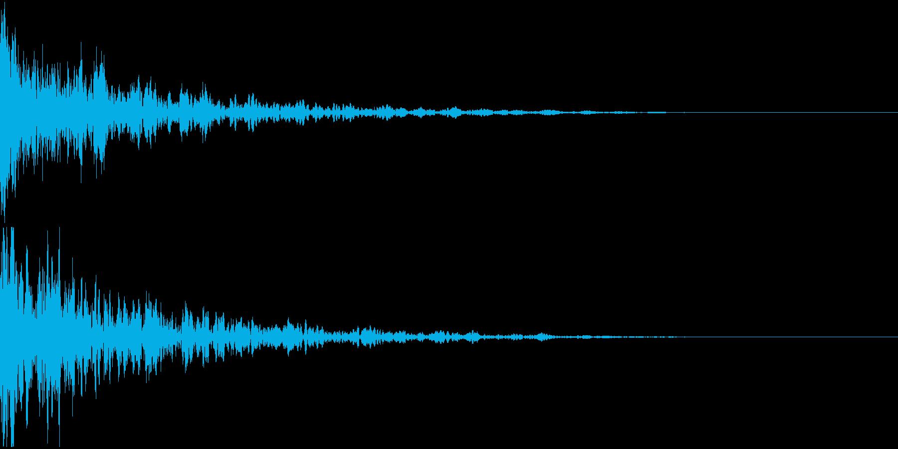 ドーン-07−2(インパクト音)の再生済みの波形