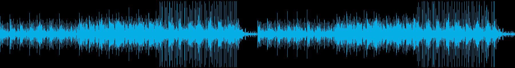 オシャレで軽快な夏の雰囲気のBGMの再生済みの波形