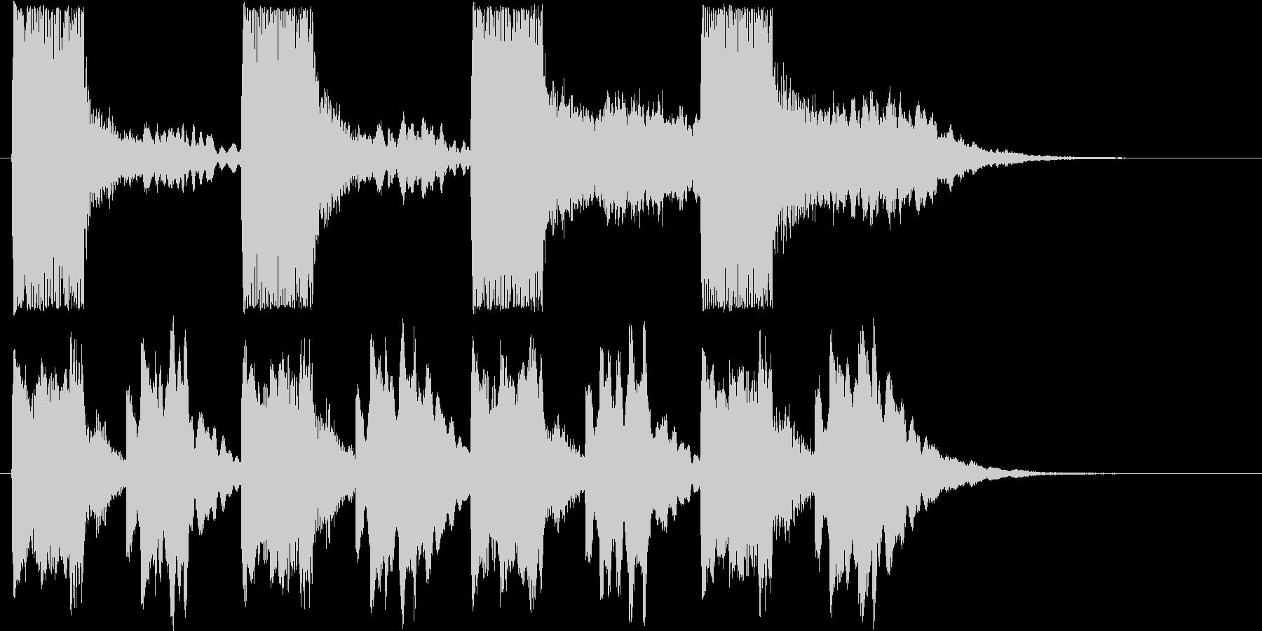 ファンタジーなシンセサウンド短めの未再生の波形