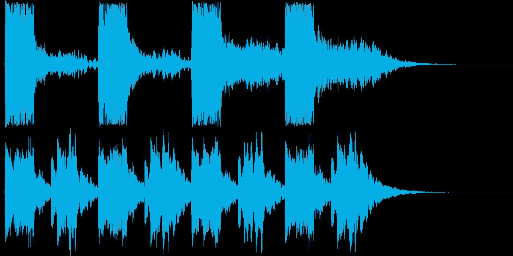 ファンタジーなシンセサウンド短めの再生済みの波形