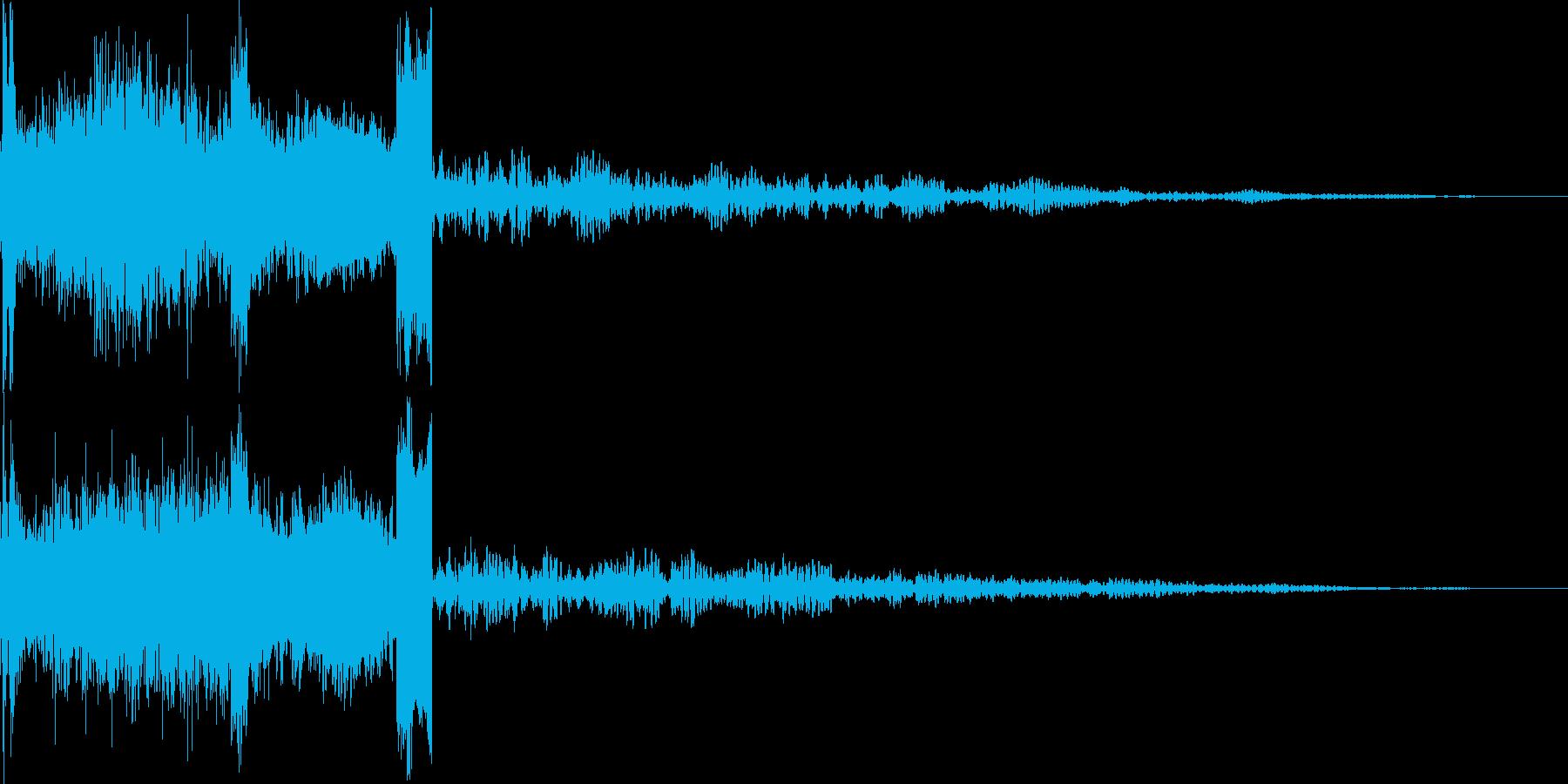 FMラジオジングル制作にピッタリな効果音の再生済みの波形