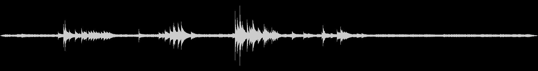 深夜の風鈴と蛙と鳥と虫の音 01の未再生の波形