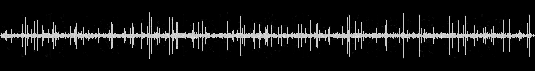 5分間のレコードノイズ・ターンテーブルの未再生の波形
