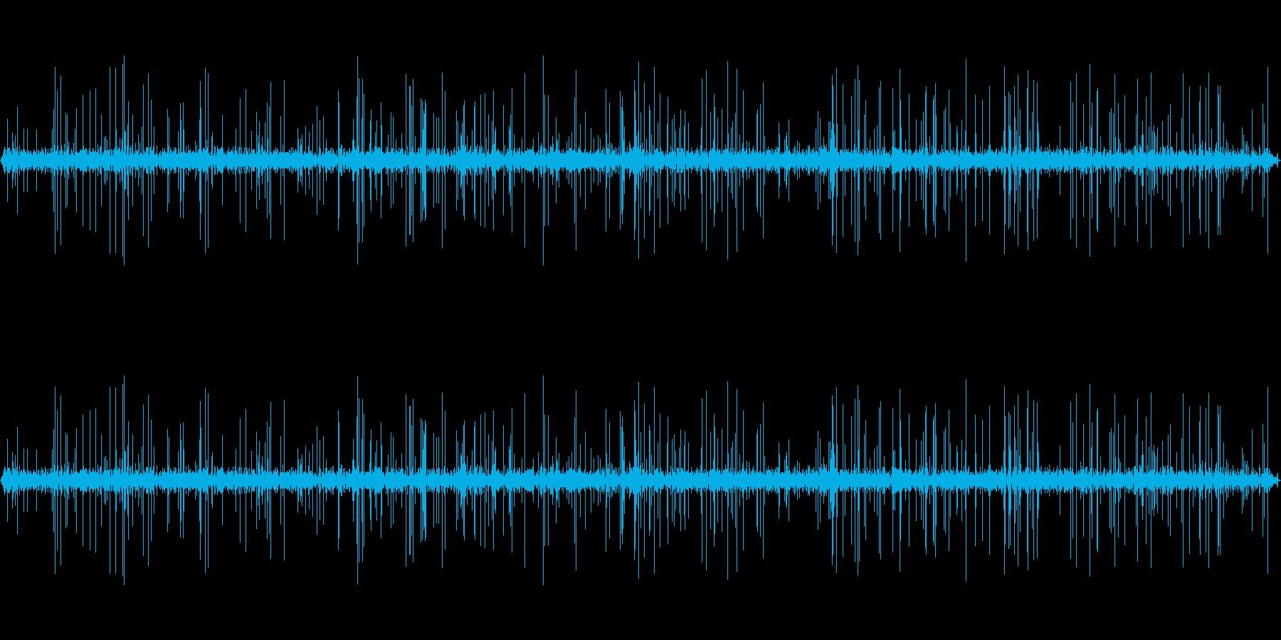 5分間のレコードノイズ・ターンテーブルの再生済みの波形