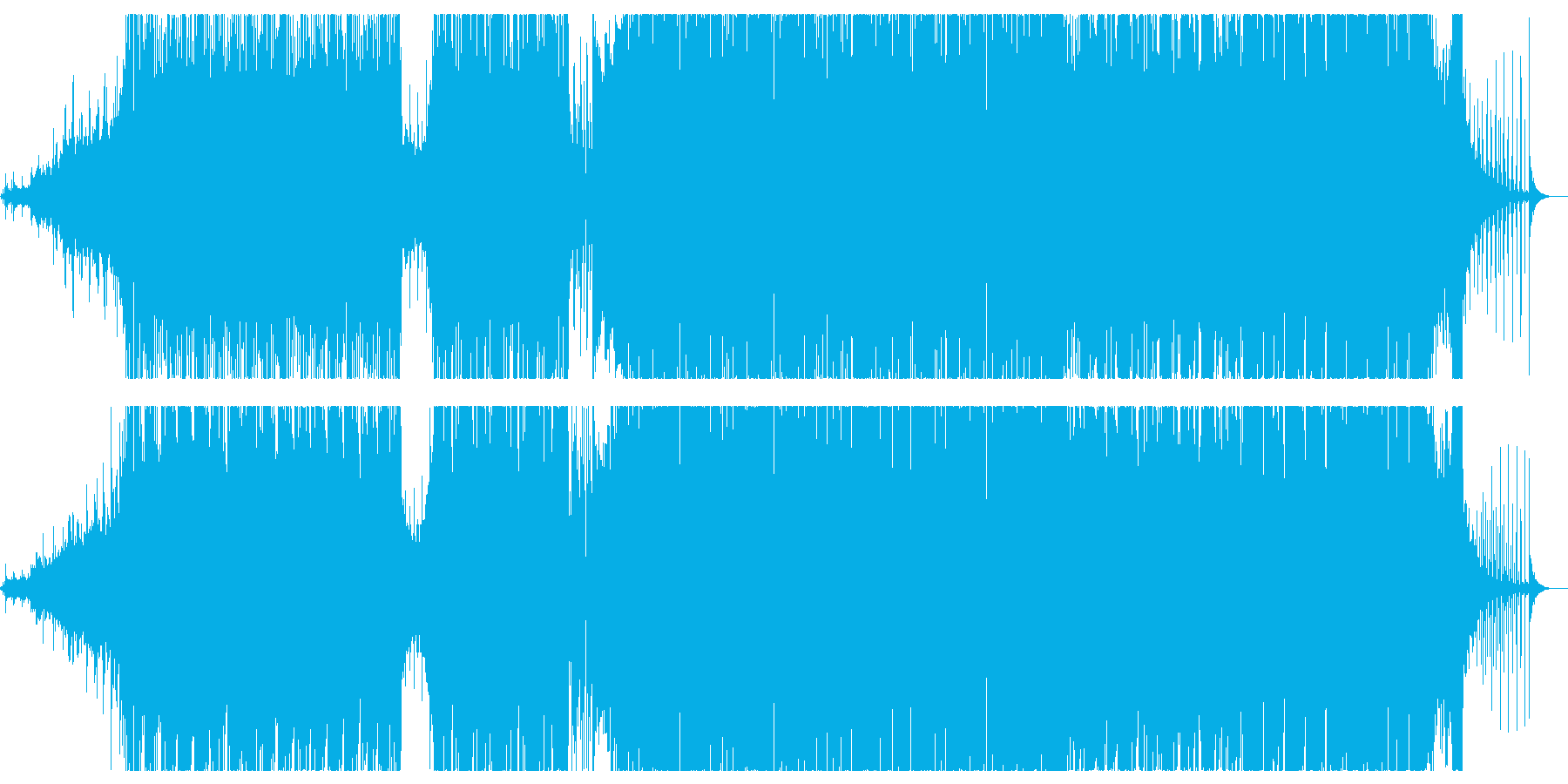 ピアノを軸にした展開多めのエレクトロニカの再生済みの波形