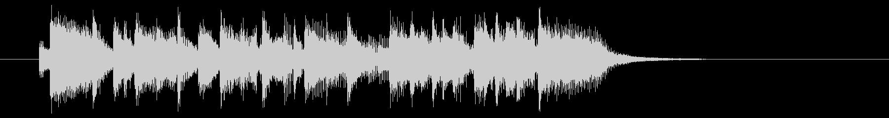 スピーディーでクールなシンセジングルの未再生の波形